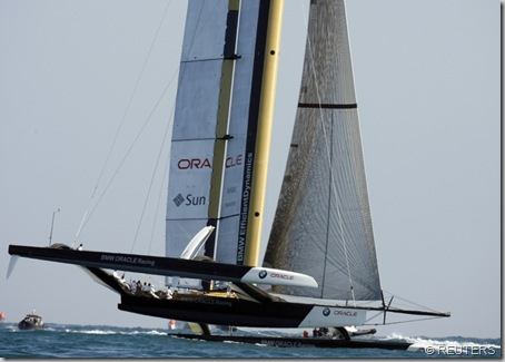 America s Cup challenger BMW Oracle USA17 trimaran REUTERS mini