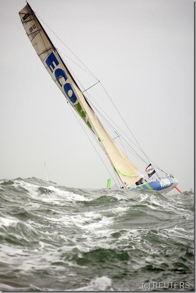 Britian s skipper Mike Golding REUTERS