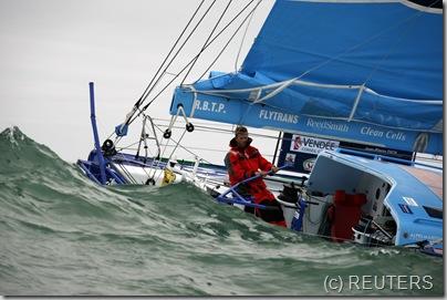 French skipper Jean-Pierre Dick REUTERS