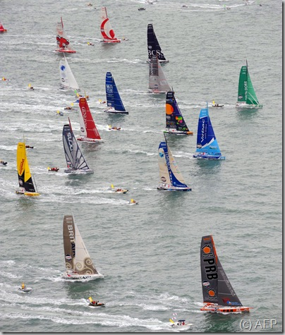 Monohulls take the start in Les Sables d Olonne AFP