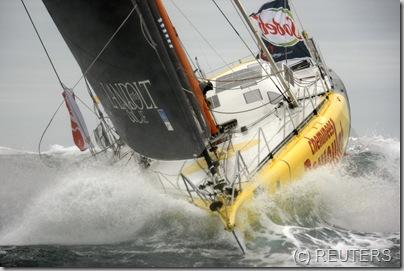 Swiss skipper Bernard Stamm REUTERS