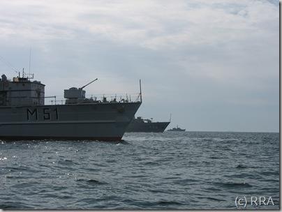 Lietuvos ir Latvijos kariniai laivai. 2008 pavasari tarp Klaipedos ir Liepojos vyko mokymai.