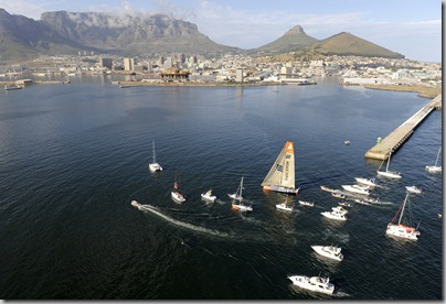 Wricsson 4 wins leg one of the Volvo Ocean Race into Cape Town