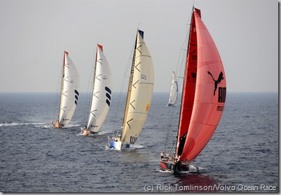 PUMA Ocean Racing leads the fleet