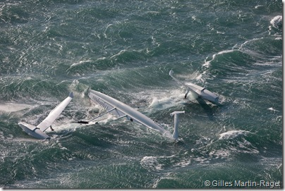 21/12/2008  The Hydroptere just after its capsize when trying to beat the overall sailing speed record