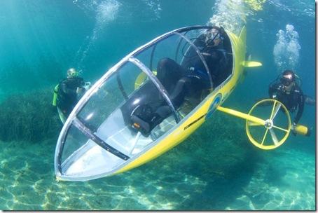 pedal-powered submarine [Ap Photo Telence Dewaele]